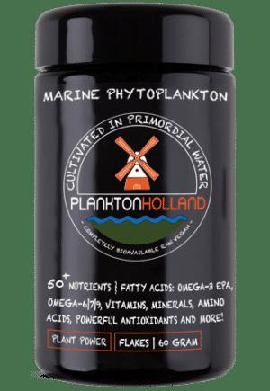 plankton flocken 60 gramm violettenglas Verpackung planktonholland